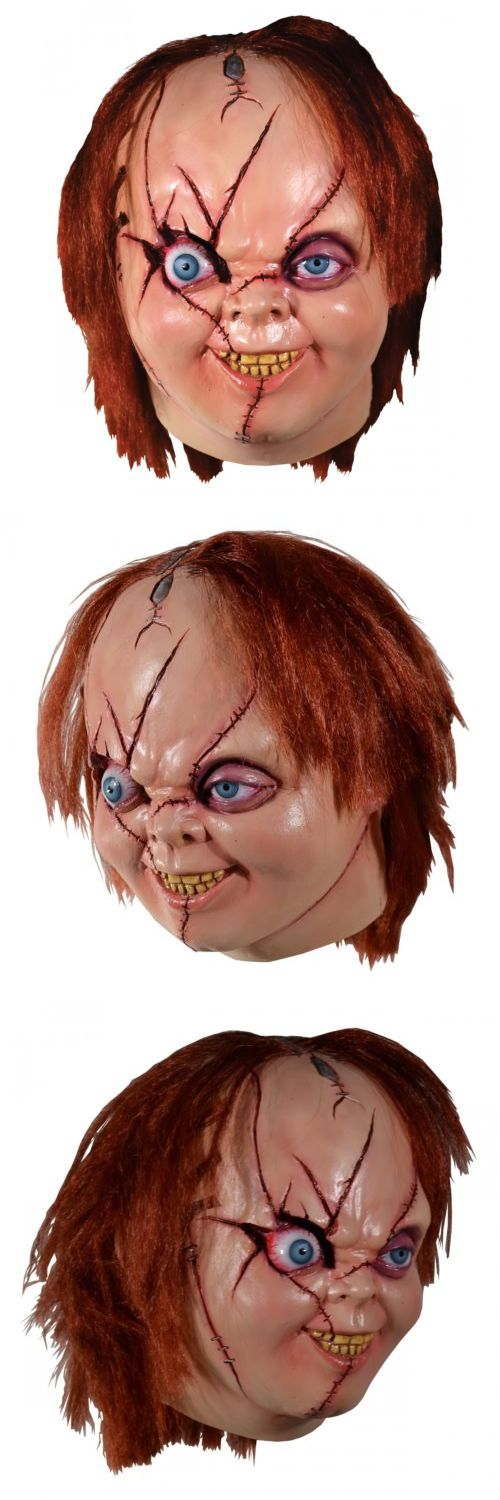 Masks and Eye Masks 116724: Chucky Mask Adult Scary Halloween Costume Fancy Dress -> BUY IT NOW ONLY: $45.49 on eBay!