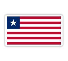 Liberia Flag Stickers