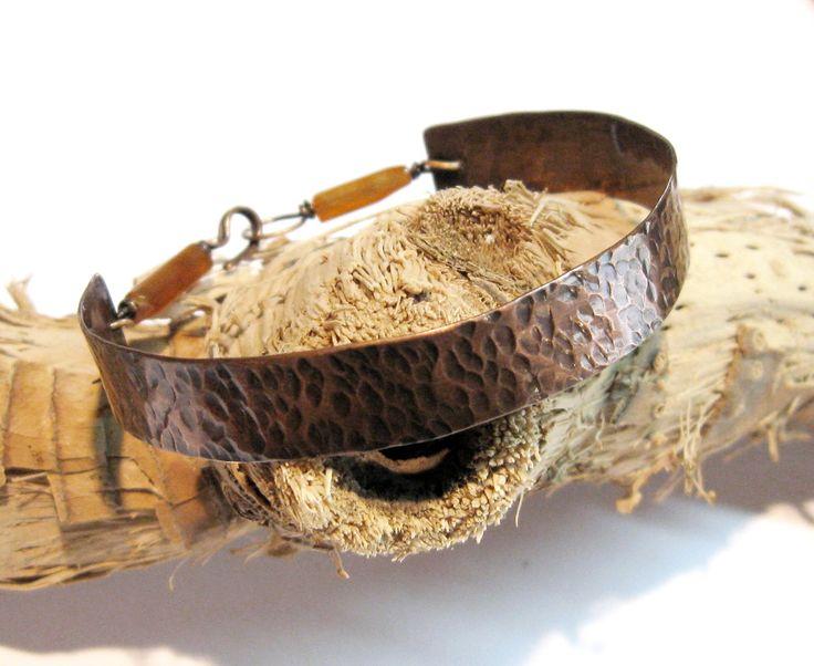 - tre8bre - un bracciale per me Copper and Carnelian