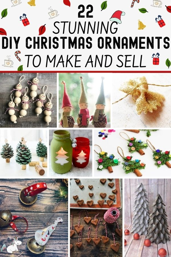 22 Easy Christmas Ornaments To Make And Sell New For 2020 The Mummy Front In 2020 Christmas Ornaments To Make Easy Christmas Ornaments Diy Christmas Ornaments