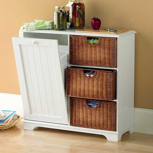 Top 25 ideas about trash bins on pinterest hidden trash for Hidden kitchen storage ideas