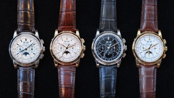 Four Patek Philippe 5970s, One In Each Metal, In The Same Place At The Same Time