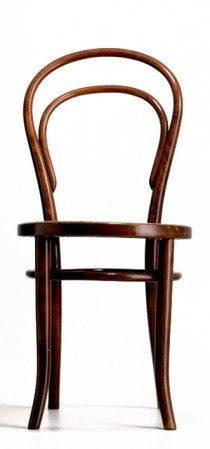 Design: Michael Thonet, 1859 The famous coffee house chair is an icon and considered the most successful mass produced product in the world to date: it initiated the history of modern furniture. The basis was a new technique - the bending of solid wood - that Michael Thonet developed and perfected during the 1850s and it was the first time serial furniture production was possible