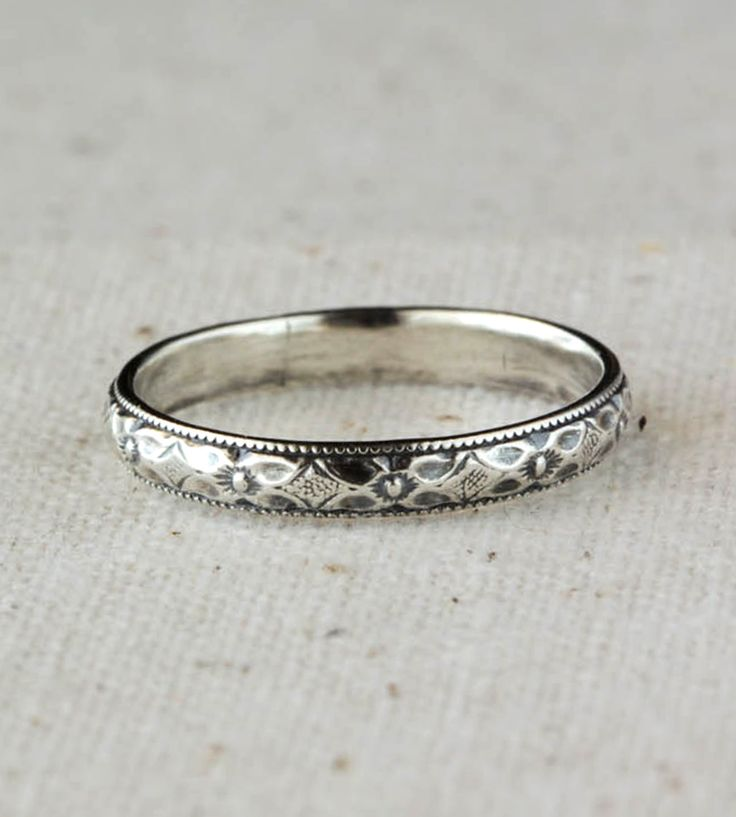 Delicate Sterling Silver Band