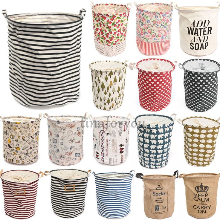 Foldable Cotton Linen Washing Clothes Laundry Basket Sorter Bag Hamper Storage | Home & Garden, Household Supplies & Cleaning, Laundry Supplies | eBay!