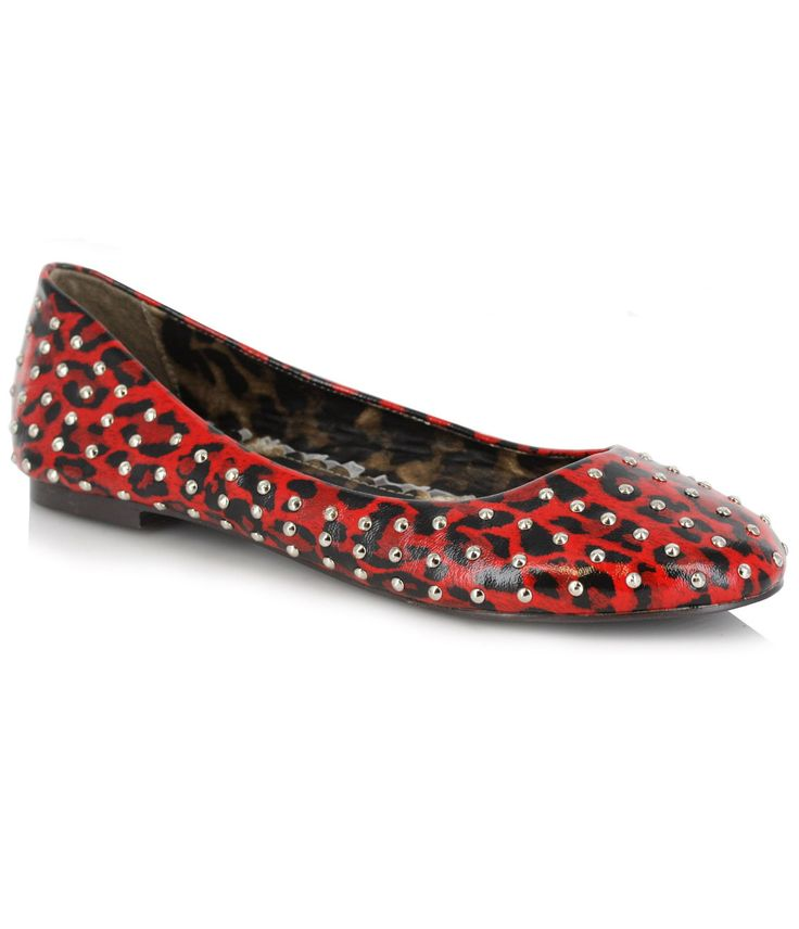 Red Leopard Studded Penny Flats (35885-EL-BP016-PENNY) van Ellie - A leopard never changes its spots, but would you ever...Price - $72.00-7cP6TTXb