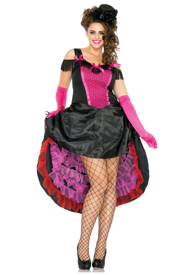 plus size can can girl costume - Can Can Dancer Halloween Costume