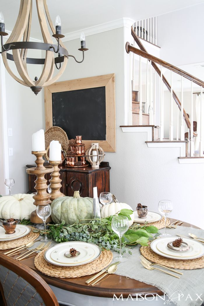 Elegant Neutral Thanksgiving Table Decor Videos Decor