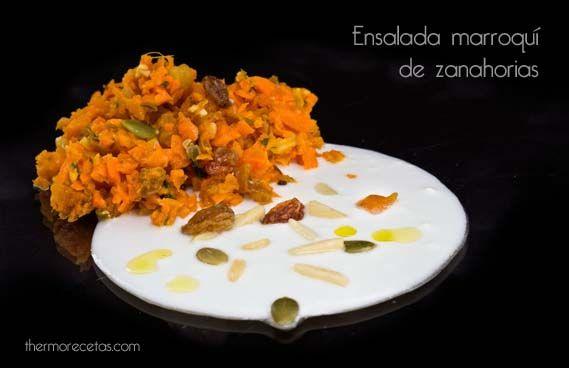 Ensalada de zanahorias y frutos secos al estilo marroquí. Thermomix.