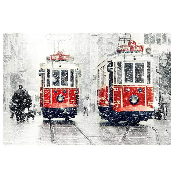 Wall decor  SALE Winter  Photography Tram photography by gonulk, $50.00  #HomeDecor #WallDecor #Landscape #Etsy #etsyonsale #Photography #Winter #Snow #red #Print #ArtPrint #tram #HomeDecorating  #redtram  #photo #istanbul #city #urban #street #transportation #walldecorideas #roominteriordecoration #WallArtPrints #prints