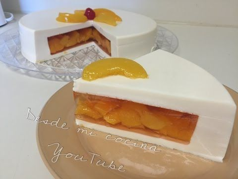 Gelatina de 3 Leches rellena de duraznos/Tres Leches JELLO with Peaches - DESDE MI COCINA by Lizzy - YouTube