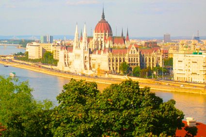 The Hungarian Parliament, with it's graceful spires and dome, sits on the Pest side of the Danube. - See more at: http://travelcuriousoften.com/october13-feature.php#sthash.MFiNEcjz.dpuf