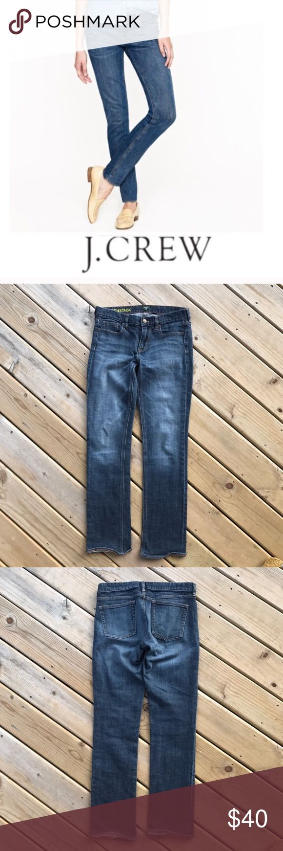 """J. Crew Matchstick Stretch Jeans Size 31 J. Crew Matchstick stretch jeans. 30"""" inseam. 98% cotton, 2% spandex. Excellent condition! Reasonable offers always welcome! 😊 No trades, thank you. J. Crew Jeans Straight Leg"""