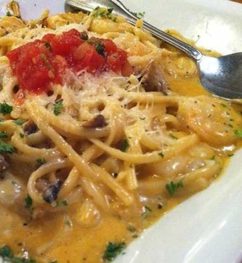 Recipe for Desert Fire Pasta - A Canyon Cafe recipe, the topping adds tremendously to the finished dish.