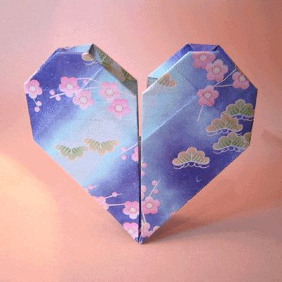 Origami heart.  I'm going to make this with my 4th graders for their class Valentine display.  They are also writing a poem to go along with it.  I am thinking a haiku.
