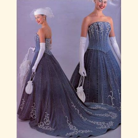 I would have LOVED to wear a bluejean wedding dress...BUT mom and TJ talked me out of it...