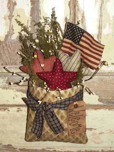 17 Best Images About Primitive Summer Amp 4th Ideas And Crafts On Pinterest Primitive Wreath