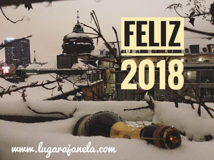 Entrada em 2018 com #neve Por entre os #telhados de #Oslo Bom ano!!!