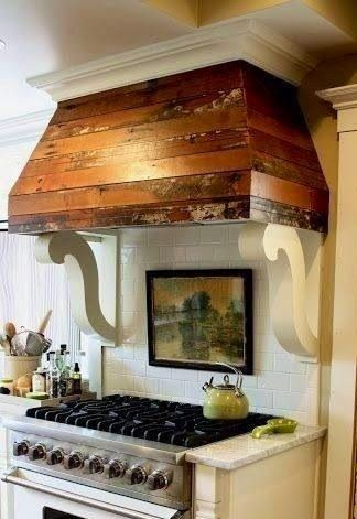**1** Pallet Range Hood and corbels | Pallet Projects