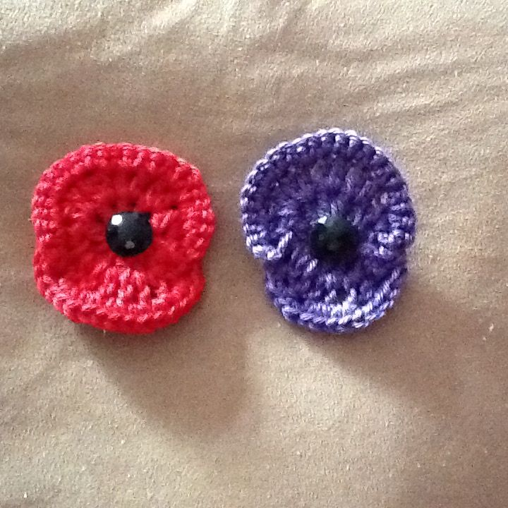 Red and purple poppies