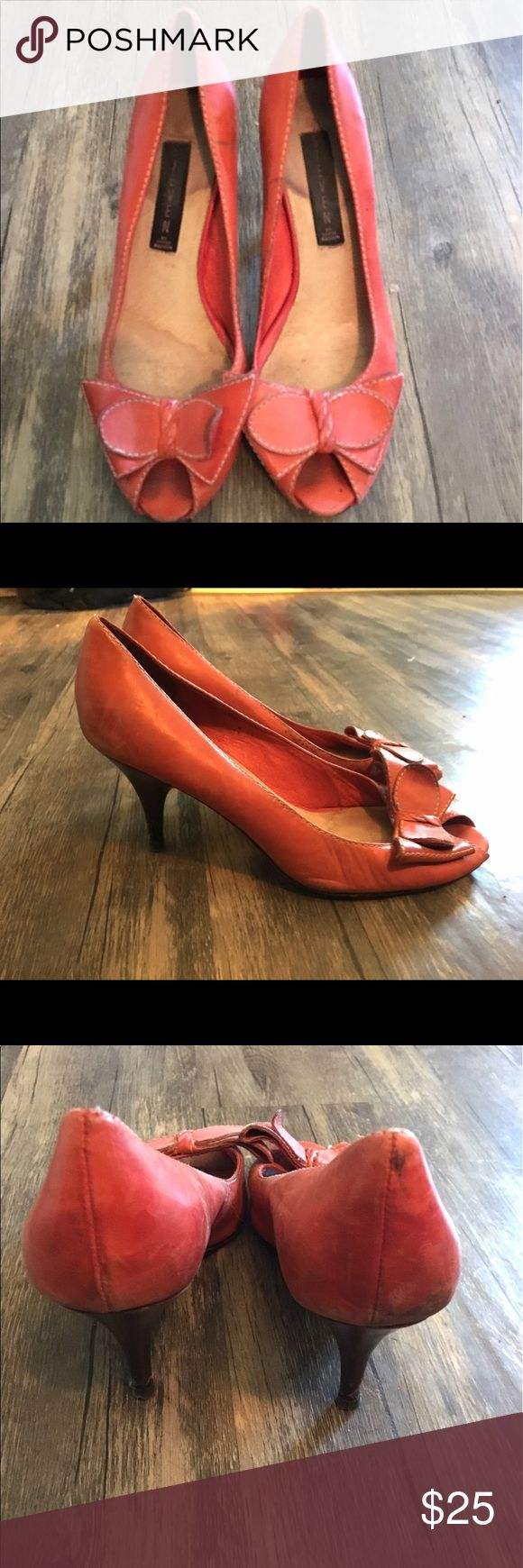 Steve Madden Red Peep Toe Heels Adorable Steven by Steve Madden red peep toe heels. Super cute with a striped top and denim skirt for a chic look. Skirt pictured is available in a separate listing. Bundle three items and save 20%! Steven by Steve Madden Shoes Heels