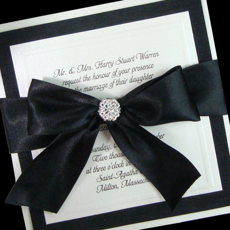 1000 images about matric farewell ideas on pinterest for Black and white bling wedding invitations