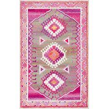 Bhatia Hand-Tufted Pink Area Rug