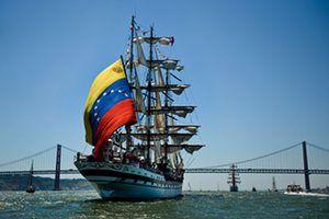 The Simon Bolivar from the bow