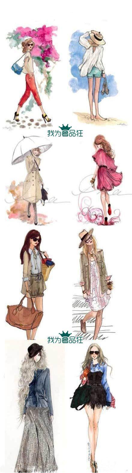 Beautiful fashion sketches