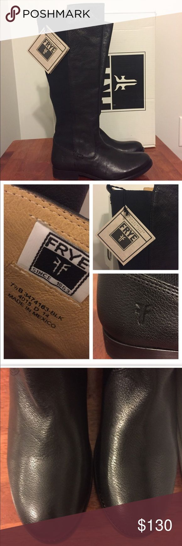 Frye molly gore riding boots NEW Brand new and gorgeous... I bought these from another posher and I love them but my husband thinks I have too many black boots so I'm trying to resell them before I am tempted to wear them. Frye Shoes