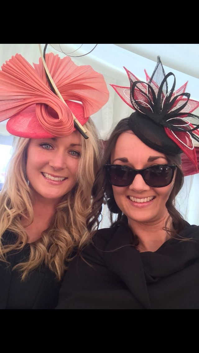 Hats by Emily O'Regan Millinery worn to Punchestown ladies day 2015