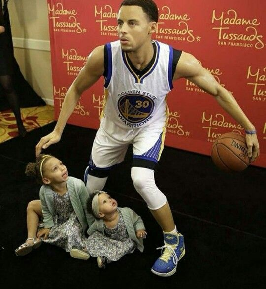 Like what you see⁉ Follow me on Pinterest ✨: @joyceejoseph ~ Stephen Curry's wax figure & his two beautiful daughters, Riley & Ryan