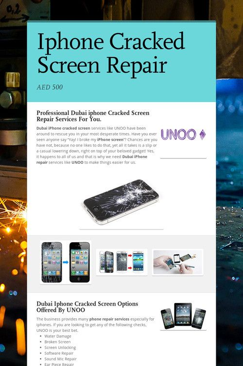Ipod Cracked Screen Repair
