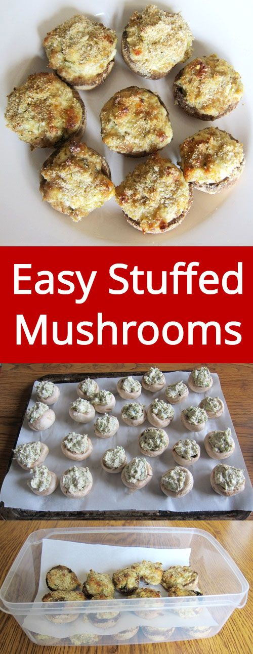 Easy Stuffed Mushrooms - these yummy little mushrooms are a hit of every party! Simply amazing!   MelanieCooks.com