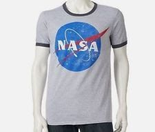 NASA Space Program Official Logo Ringer T Shirt_ Size Medium_ New with tags