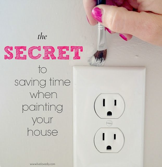 the secret to saving time when painting your house! Good to know!