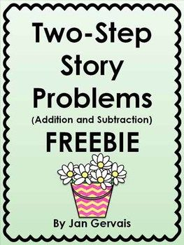 twostep story problems addition and subtraction freebie  math  twostep story problems addition and subtraction freebie  math  math  addition subtraction word problems