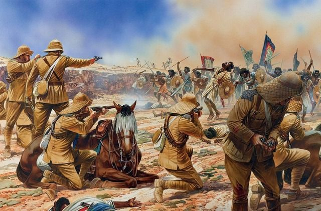 Battle of Omdurman (2 September 1898). An army commanded by the British General Sir Herbert Kitchener defeated the army of Abdullah al-Taashi, the successor to the self-proclaimed Mahdi, Muhammad Ahmad.