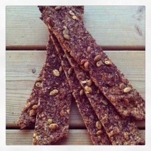 knäckebröd med choklad och kanel