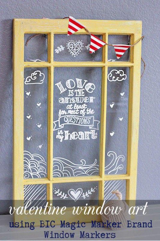 Window art using BIC Magic Marker Brand Window Marker via Lil Mrs. Tori