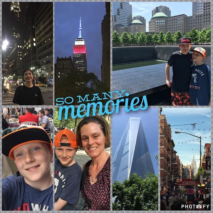 What a weekend!!! So many fun things so many memories.  Everything we did was so fun and I'm so happy to have these memories with my boys   If you haven't been to the 9/11 Museum and Memorial Pools I highly recommend it very powerful tribute.  Spent 4 hours there and could have spent 4 more.. #nyc #empirestatebuilding #911memorial #littleitaly #memorialdayweekend #memories #thankful