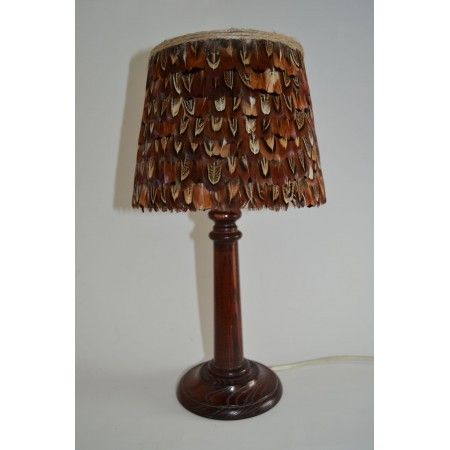 Small cock pheasant feather lampshade - £45