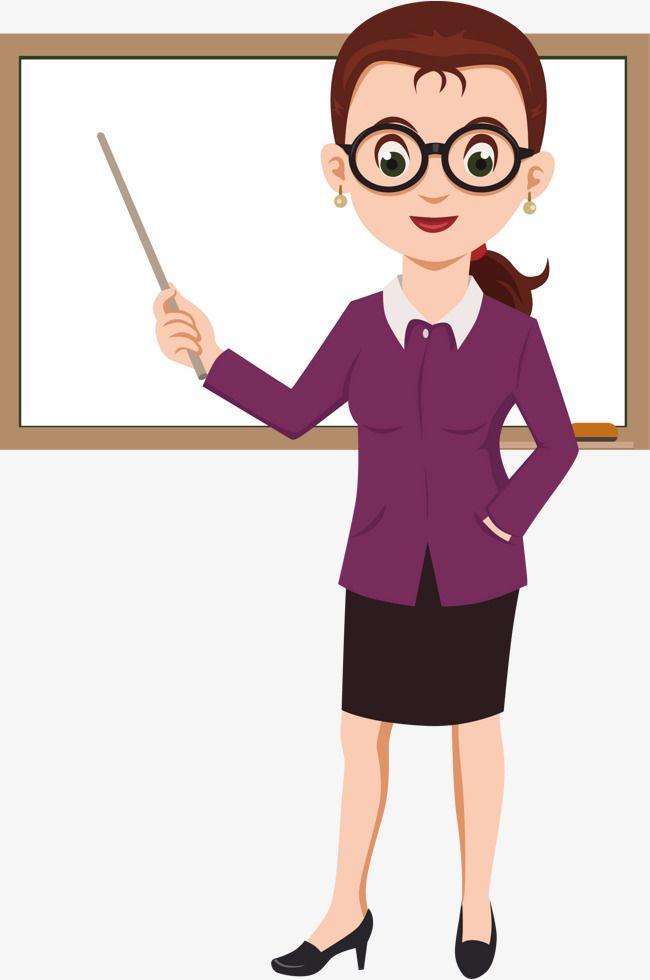 أنيقة معلمة كرتون الجنس أنثى الاحتلال Png وملف Psd للتحميل مجانا Teacher Cartoon Teacher Clipart Teacher Images