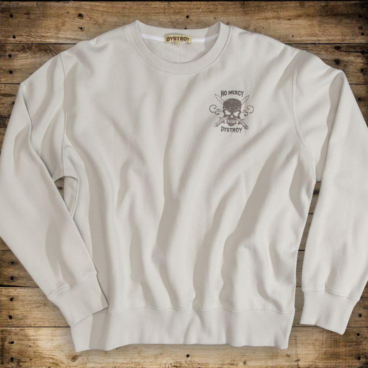 "DYSTROY Sweatshirt ""NO MERCY"" Size M-3XL https://www.dystroy.com/Hoodies/Sweatshirt-No-Mercy-dirty-white.html"