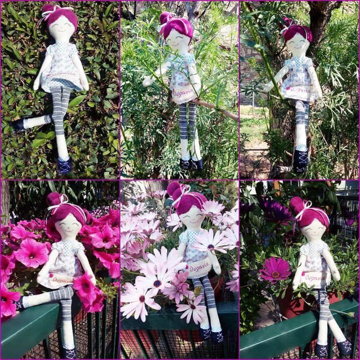 Η αγαπημένη Ουρανία μας φωτογραφίες από τον περίπατο μας στην πόλη   Χειροποίητες υφασμάτινες κούκλες. από την teapot (handmade creatures) !!!!!!