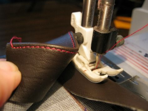 How to sew leather straps for handbags and purses