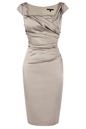 New colour theme idea... silver and pearls! :) Silver satin bridesmaids dress from Coast