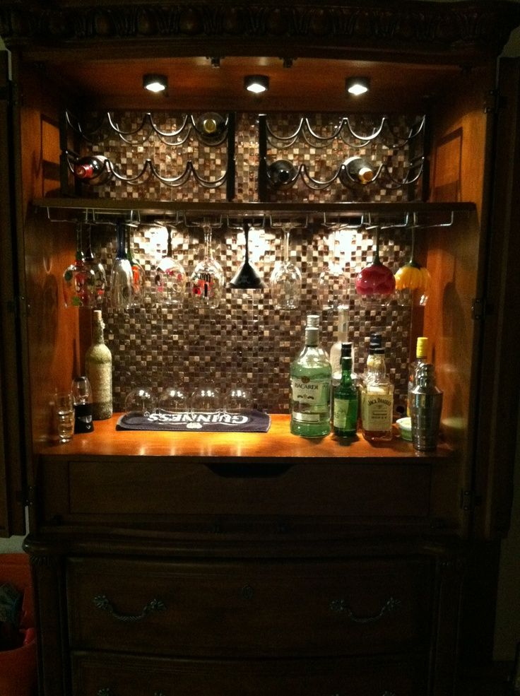 how to turn an armoire into a bar - Google Search