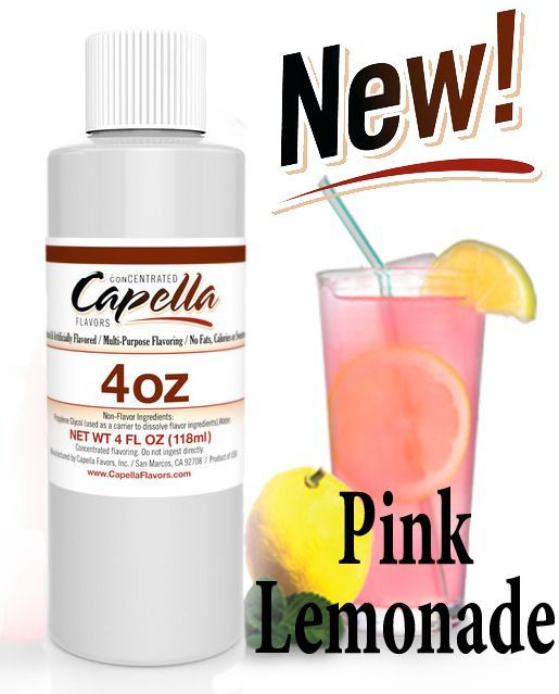 Capella Pink Lemonade Flavor Concentrate - 118ml (4oz) UK