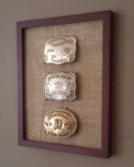 Cowboy/Cowgirl Western Belt Buckle Display
